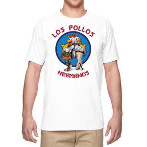 Funny Los Pollos Hermanos Men's T-Shirts Graphic Tee Cotton  Top Short Sleeve
