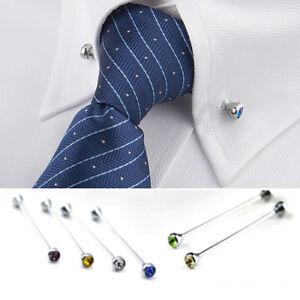 miglior servizio b1662 adf09 Dettagli su Camicia Uomo Cravatta Collo Cravatta Tie Pin Clip Spilla BAR  MEN'S JEWELRY Accessori- mostra il titolo originale