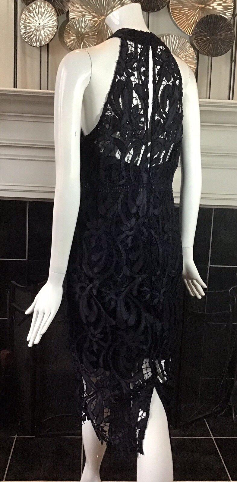 BARDOT ISA Lace Halter Dress French Navy Size 10 Large Large Large NWOT 467a13