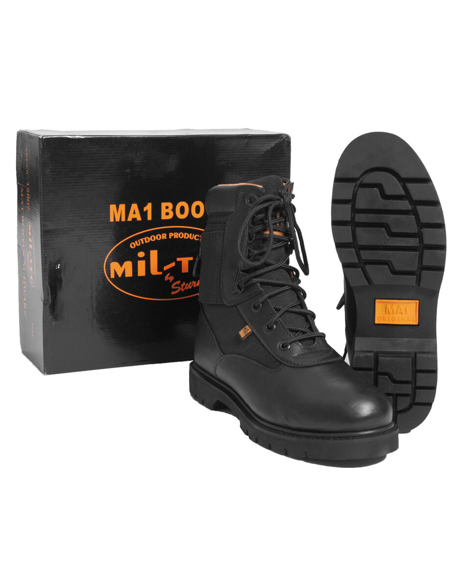 MIL-TEC ma1 boots Scarpe scarpe stivali di pelle scarponcini trekking Scarpe boots Stivali 37-47 10ea7a