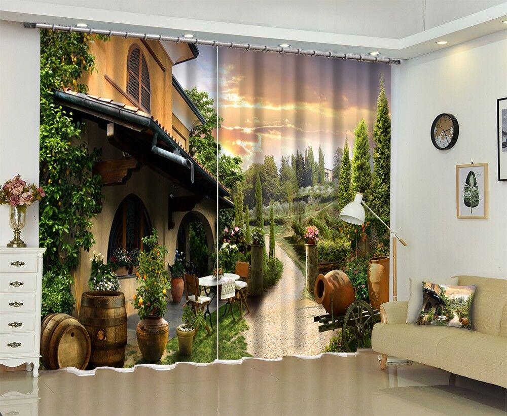 3d Weingut casa 72 blocco foto sipario pressione sipario tende tessuto finestra de