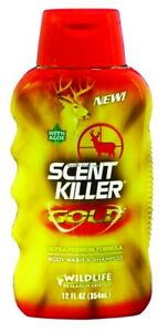 NEW-Wildlife-Research-Scent-Killer-Gold-Body-Wash-and-Shampoo-12-Ounce-1240