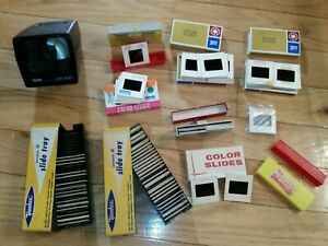Lot-of-100-Vintage-35mm-Slides-Mixed-Cars-Singing-Travel-1960-70s-5-New-Blanks