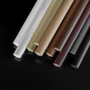 2.5m Viertelstab Schwarz 13x13mm Winkelprofil Abdeckleisten Kunststoff Leisten