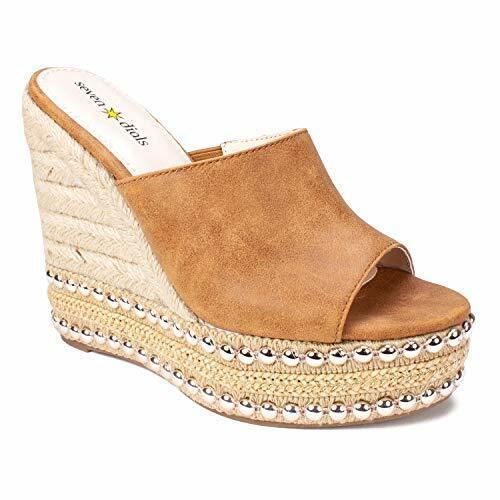 SEVEN DIALS Women/'s Espadrille Wedge Sandal