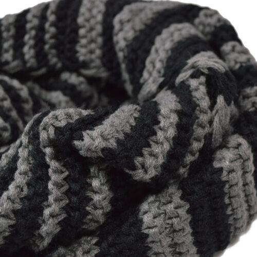 Premium Winter Classic Striped Knit Infinity Loop Circle Scarf Diff Colors