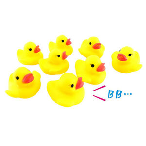10Pcs Rubber Duck Ducky Duckie Baby Shower Birthday Party Favors Toys TW