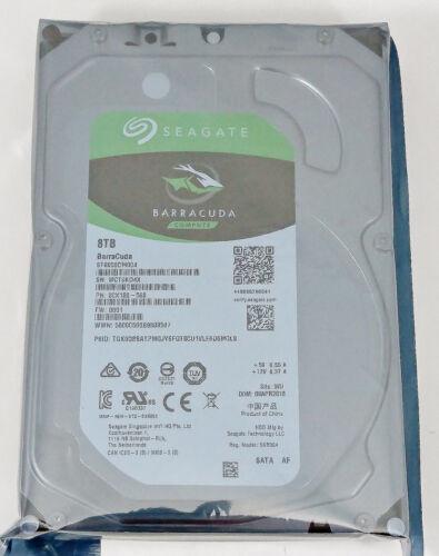 "Seagate Barracuda ST8000DM004 8 TB 256M Cache 3.5/"" SATA 6GB//s Desktop Hard Drive"