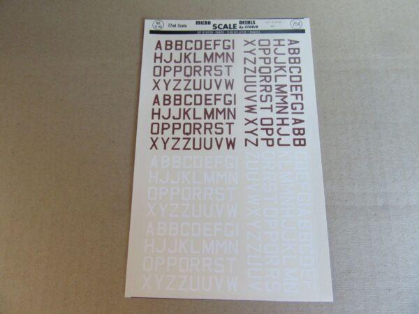 190k Microscale Decals 72-48 Insigne Raf Id Lettres Med 2 Marron Blanc 1:72 Bien Vendre Partout Dans Le Monde