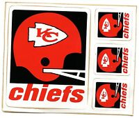 KANSAS CITY CHIEFS VINTAGE AUTHENTIC TEAM ISSUED STICKER / DECAL VINTAGE 1973