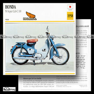 031-13-HONDA-50-SUPER-CUB-C-100-1958-Cyclo-Fiche-Moto-Motorcycle-Card