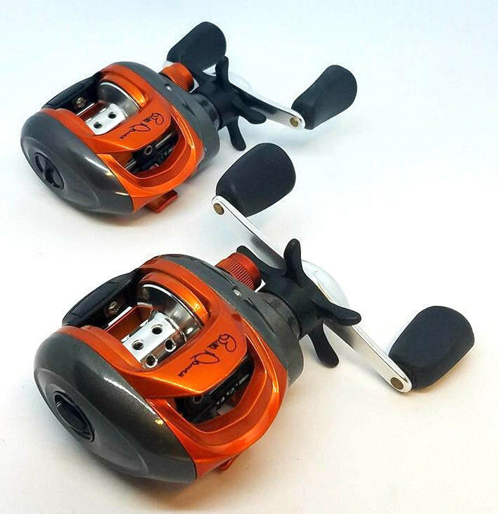 (2) QUANTUM BILL DANCE LEFT HANDED BAITCASTING REELS WITH NO BOX