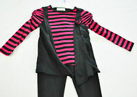 Girls Bobbie Brooks 2 Piece Set Size Xs 4-5 Pants & Top Pink & Black Brand