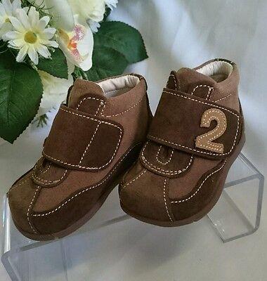BABY Kinder Schuhe Herbst Frühling MADE IN ITALY Gr. 18 Braun LEDER NEU 2