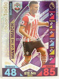 Match coronó 2016/17 Premier League-ma26 dusan tadic-Man of the match  </span>