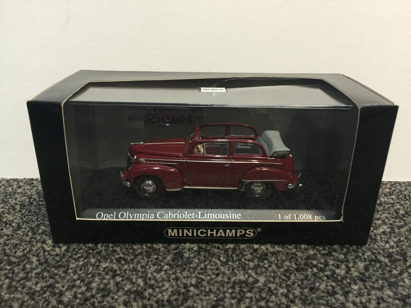 Opel Olympia Cabriolet-Limousine 1951 rot 1 43 Minichamps  | Neuartiges Design