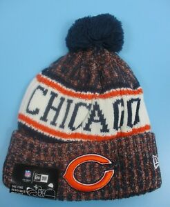 c21557f47 Details about CHICAGO BEARS - New Era - Knit Winter Hat (Fold UP Style with  Pom Pom)