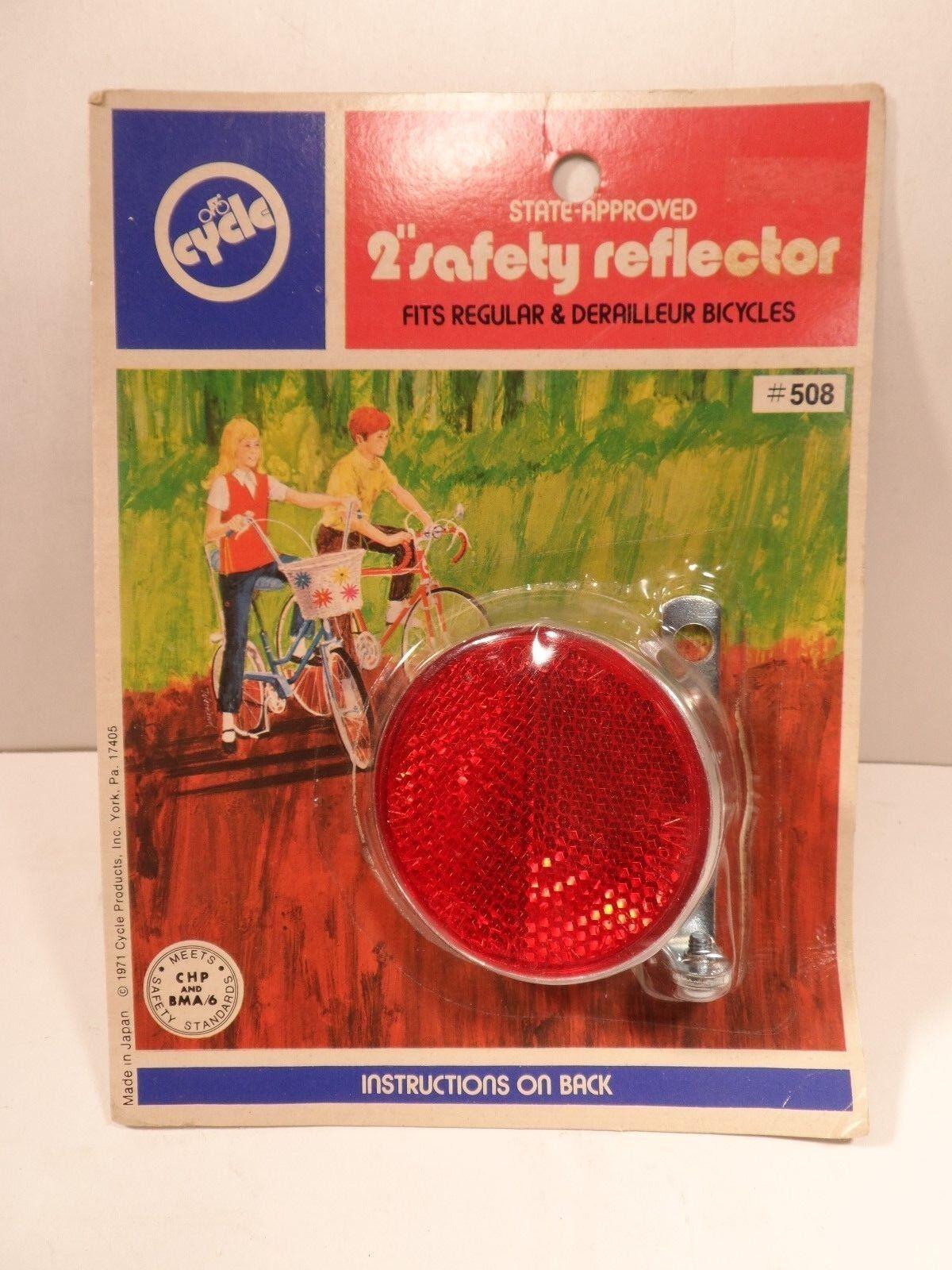NOS NIP Red Reflector Vintage Bicycle CAT EYE RR-210 2  Cycle JAPAN