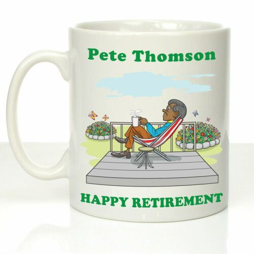Crazy Tony/'s Personalised Retirement Gifts For Male Colleagues Retirement Mug