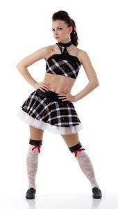 2a5ba5f0f Wind It Up Dance Costume Tap Skirt and Top School Girl Plaid Adult ...