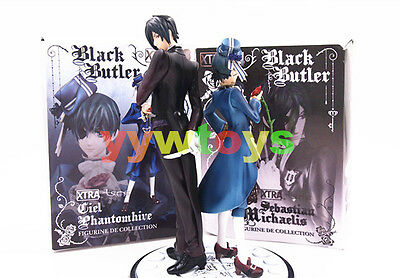 Anime Black Butler Kuroshitsuji Ciel & Sebastian Michaelis Toy Figure Doll New