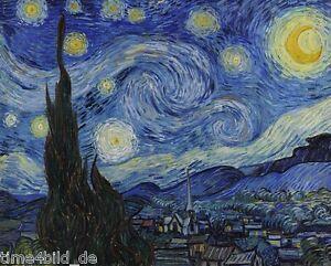 time4bild vincent gogh sternennacht gemälde bilder leinwand
