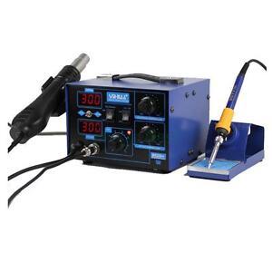 862D+ 2in1 SMD 110V Electric ESD Soldering Iron Station Desoldering Welder Kit