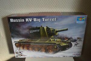 MAQUETTE-TRUMPETER-RUSSIA-KV-BIG-TURGET1-35-NEUF-CHAR-TANK-n-311