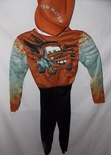 Disney Cars Tow Mater Halloween Costume Boys Size S 4 5 6 Jumpsuit Hat