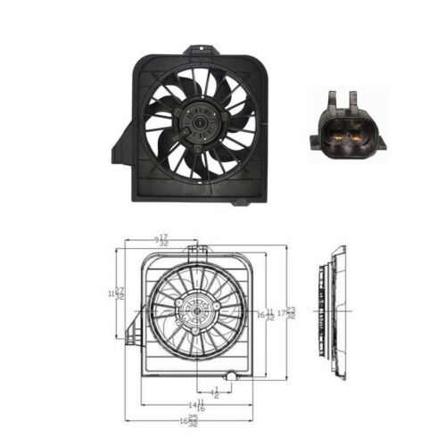 2001-2005 Chrysler Town /& Country Radiator Fan Assembly Engine Cooling Fits