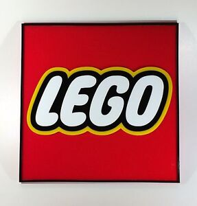 Plexiglass Lego Logo Craft Reproduction 400x400mm.
