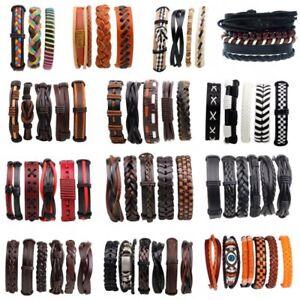 6-5-3PCS-Handmed-Unisex-Leather-Braided-Wristband-Cuff-Punk-Men-Bracelet-Bangle