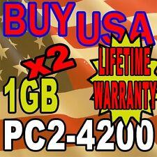 2GB KIT LOT 1GB X 2 DDR-2 DDR2 PC4200 PC2-4200 533 MHz DESKTOP MEMORY RAM