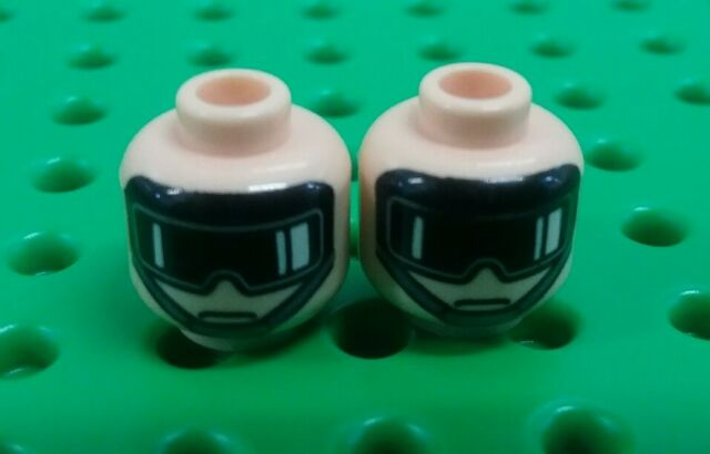 *NEW* Lego Flesh Star Wars Imperial AT Walker Trooper Faces Heads 2 pieces