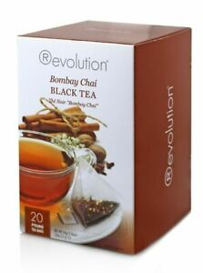 (Price/Case)Revolution Tea 80-4050 Tea Bombay Chai Black 6-20 Co