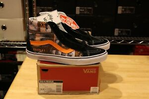 94e51cbee2 Vans SK8-Hi Reissue Van Doren Hoffman Black Orange Size 10 ...
