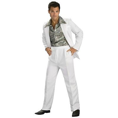Disco King 1970's Saturday Night Fever Suit Costume Halloween Fancy Dress