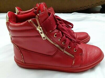 G by Guess Chase High Top Red Shiny