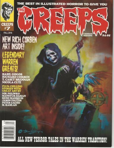 Creeps Magazine Warrant Publishing # 7 VF//NM  Creepy Eerie Style