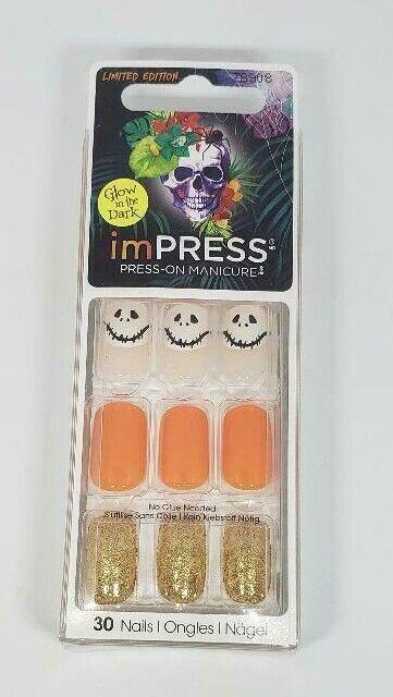 Kiss Nails Impress Press On Manicure Glow In The Dark ...