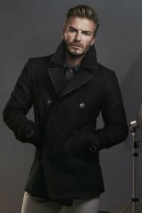 7b2ab3a3d1 Image is loading DAVID-BECKHAM-STYLISH-MEN-039-S-DOUBLE-BREASTED-