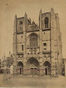 Francia-Nantes-Cattedrale-San-Pierre-Foto-Neurdein-Vintage-Albumina-Ca-1880