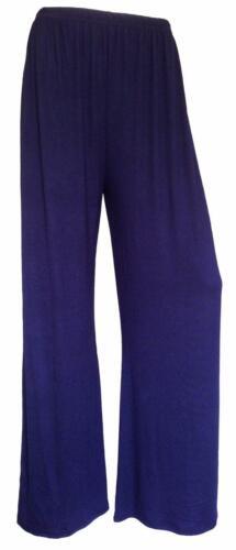 Ladies Palazzo Plain Flared Wide Leg Pants leggings Baggy Girls Womens Trousers