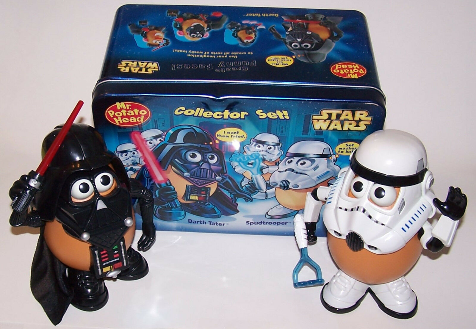 Mr. Potato Head Star Wars Darth Tater & & & Spudtrooper Collector Set in Tin 637eb2