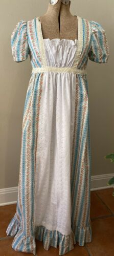 Vintage 70s Gunne Style Lined Prairie Calico maxi