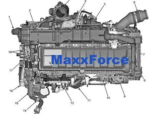 maxxforce 11 13 epa10 diesel engine service manual epa10 diagnostic manual ebay