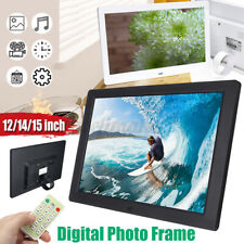 ZYLFN Digital Photo Frame 14 inch Advertising Media Player 16:9 Digital Picture Frame with High Resolution LED Screen and Auto On//Off Timer