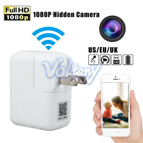 2.4G WiFi Full HD 1080P USB Wall Charger IP Motion Hidden Camera Home Security