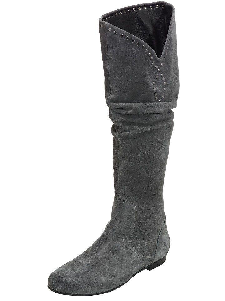 Heine Stiefel, Gr.37, Rind-Veloursleder Günstige und gute Schuhe