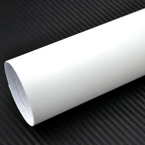 5€//m² Car Wrapping Weiß Matt Auto Folie Luftkanäle BLASENFREI White Autofolie
